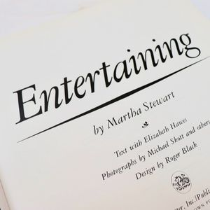 Entertaining Martha Stewart Hardback Book Rare